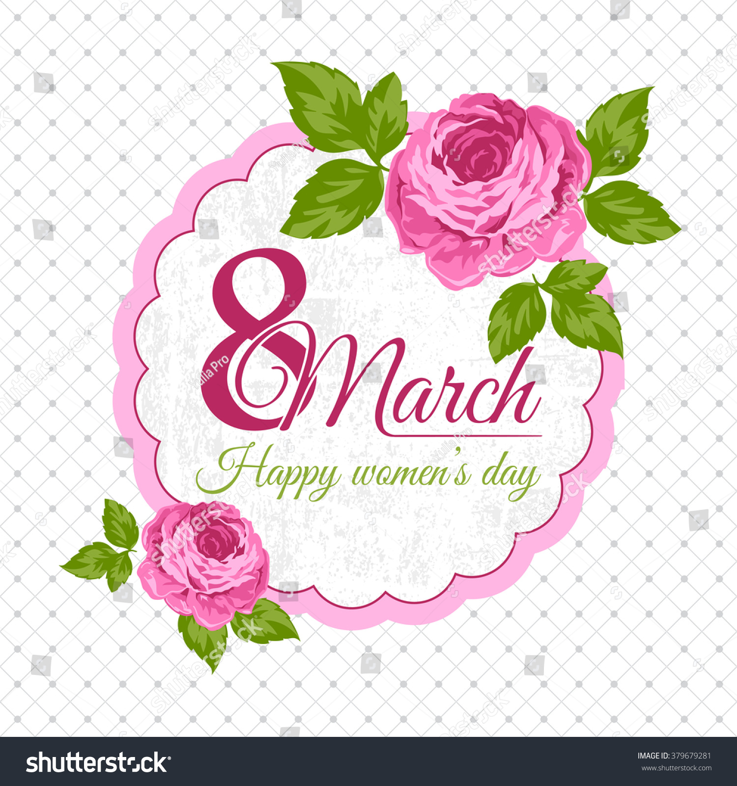 Congratulation 8 March Card Happy Womens Day Beautiful Greeting