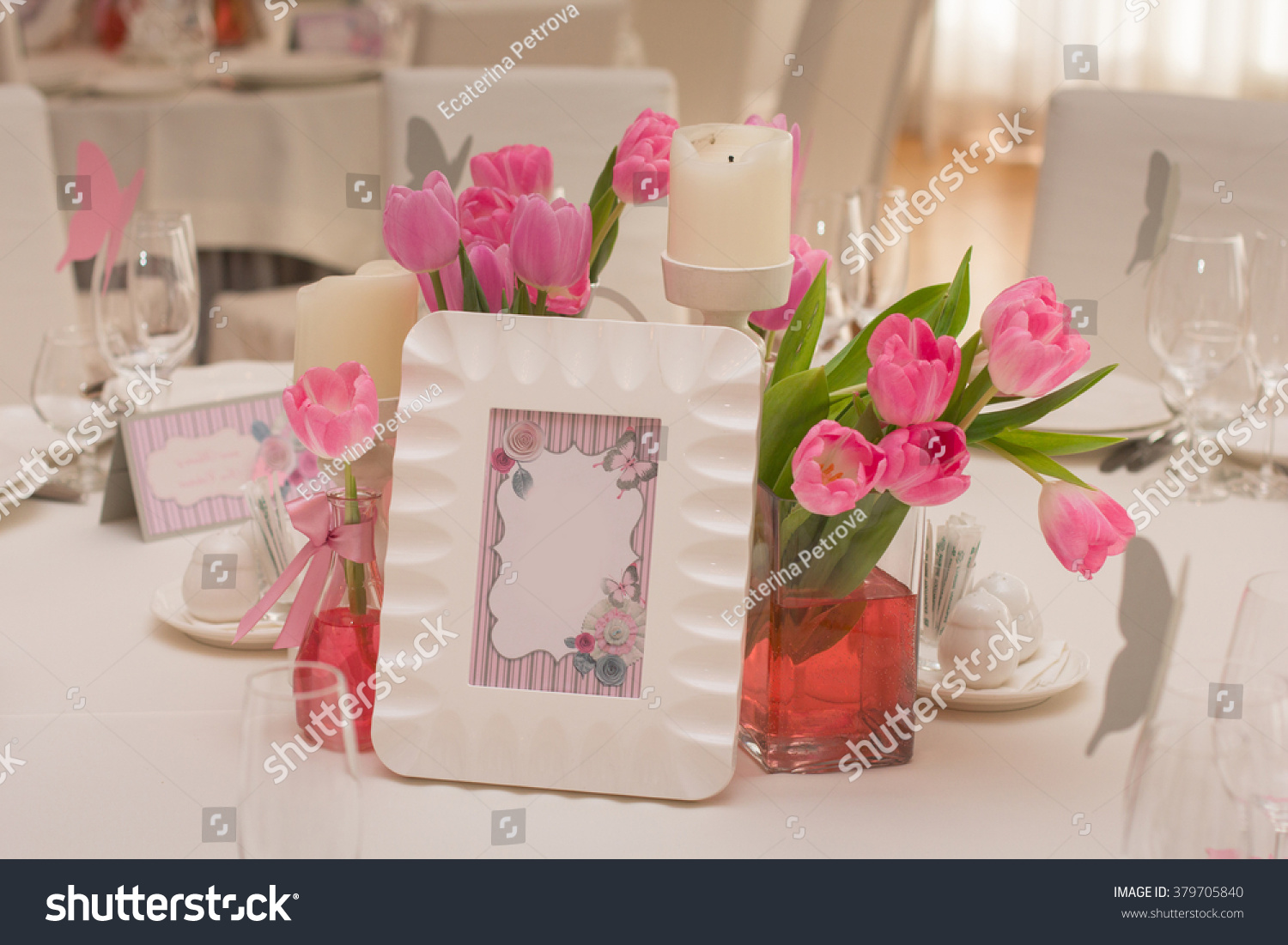 Wedding Table Decoration Table Set Wedding Stock Photo Edit Now