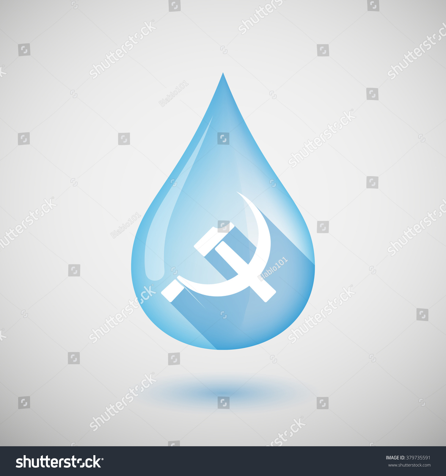 Illustration long shadow water drop icon stock vector 379735591 illustration of a long shadow water drop icon with the communist symbol biocorpaavc Image collections