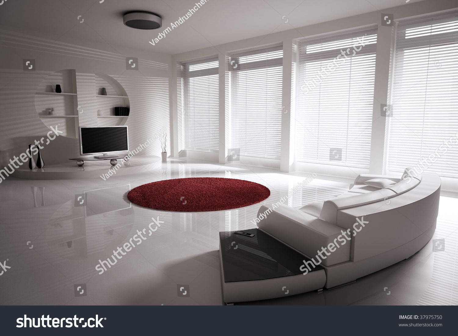 Interior Design For Lcd Tv In Living Room Living Room Sofa Lcd Tv Interior Stock Illustration 37975750
