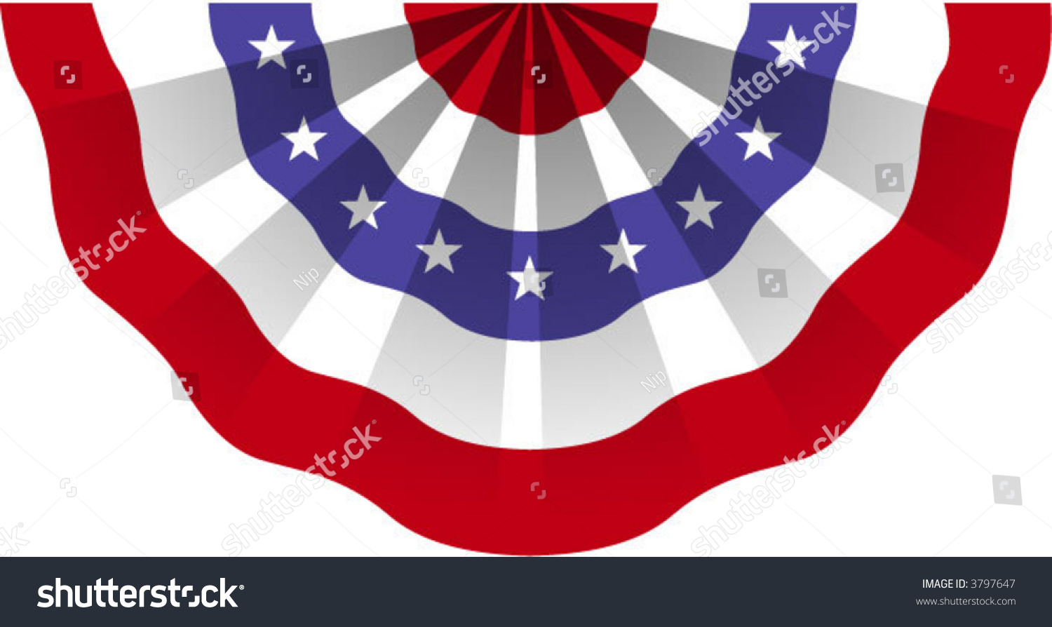 American Flag Bunting Stock Vector 3797647 - Shutterstock