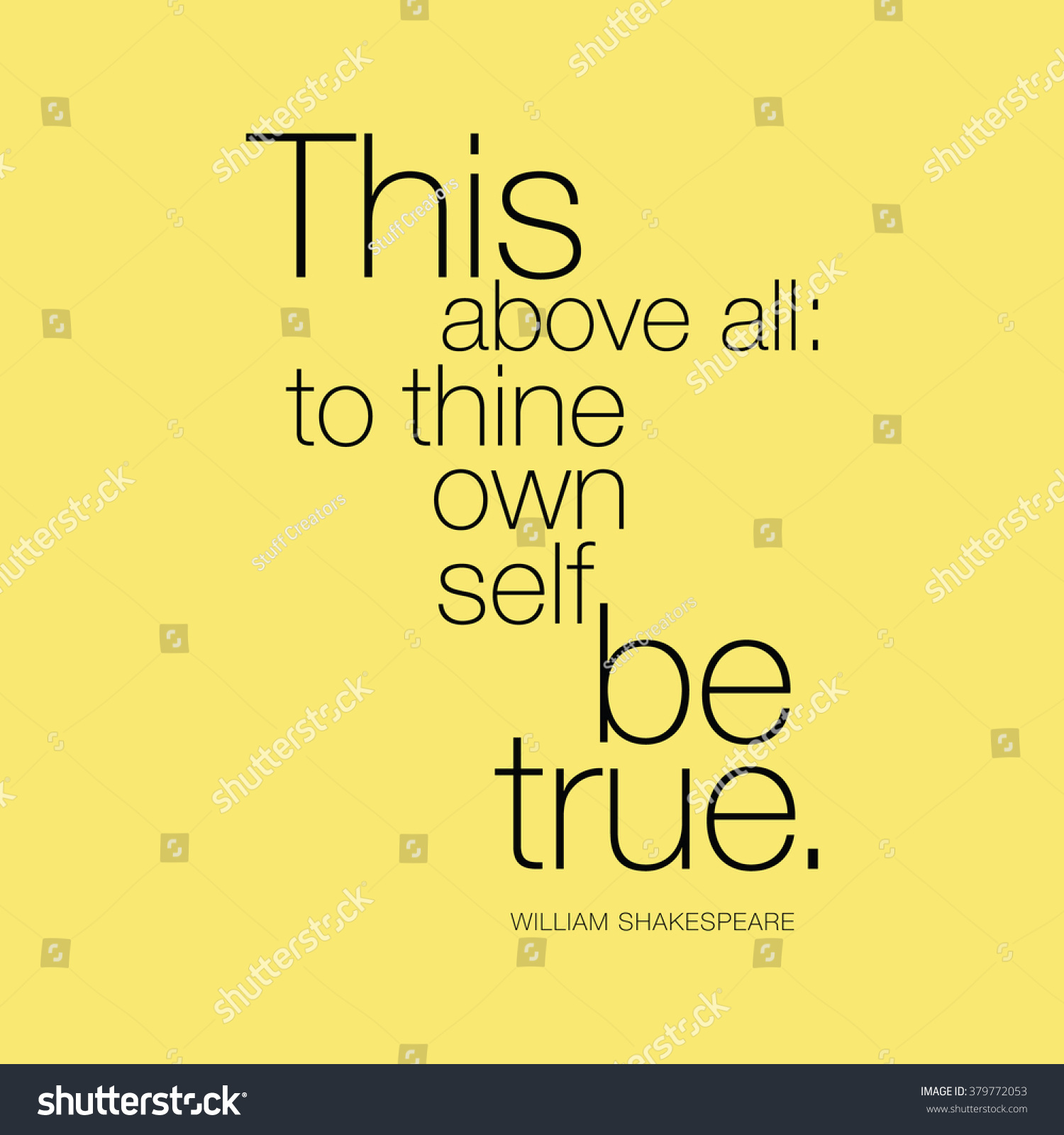 to thine ownself be true