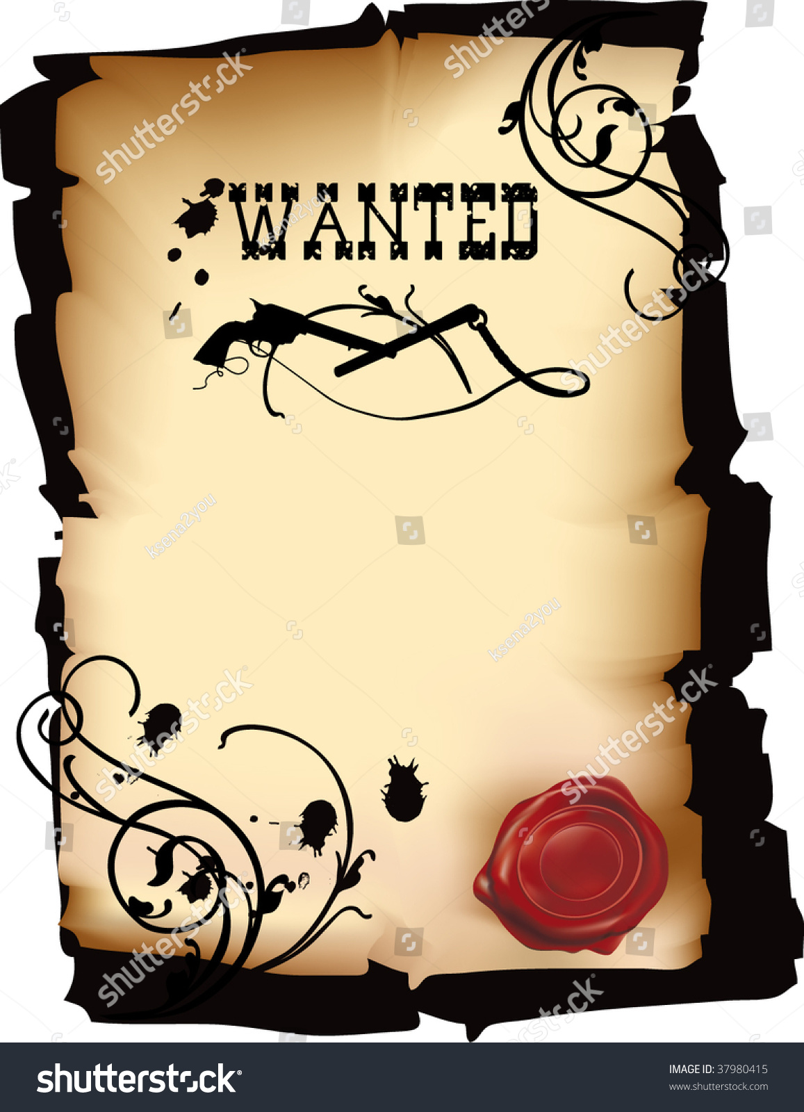 wild west wanted poster vector format stock vector