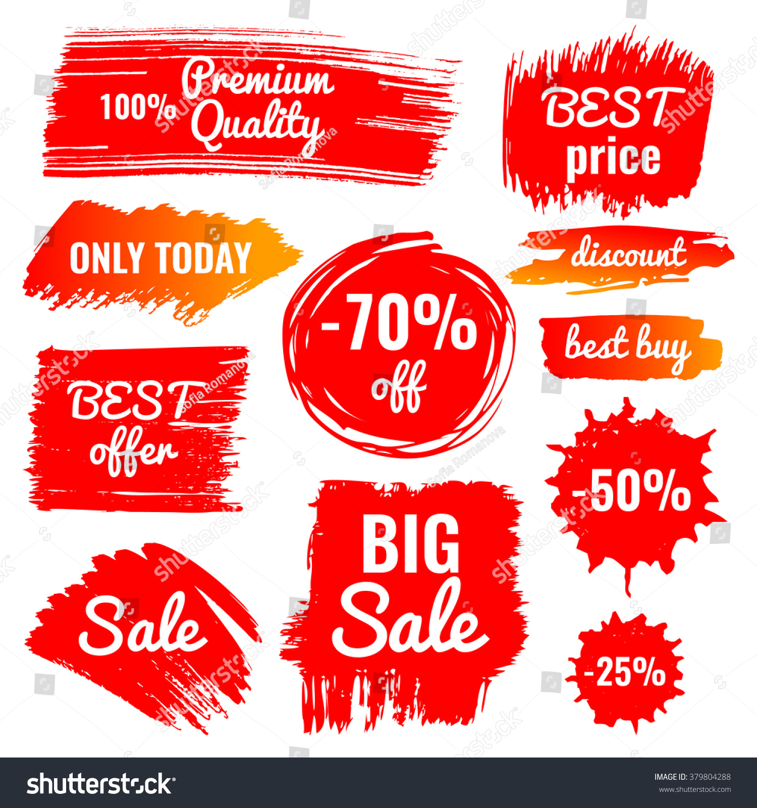 Vector Collection Big Sale Discount Best Stock Vector