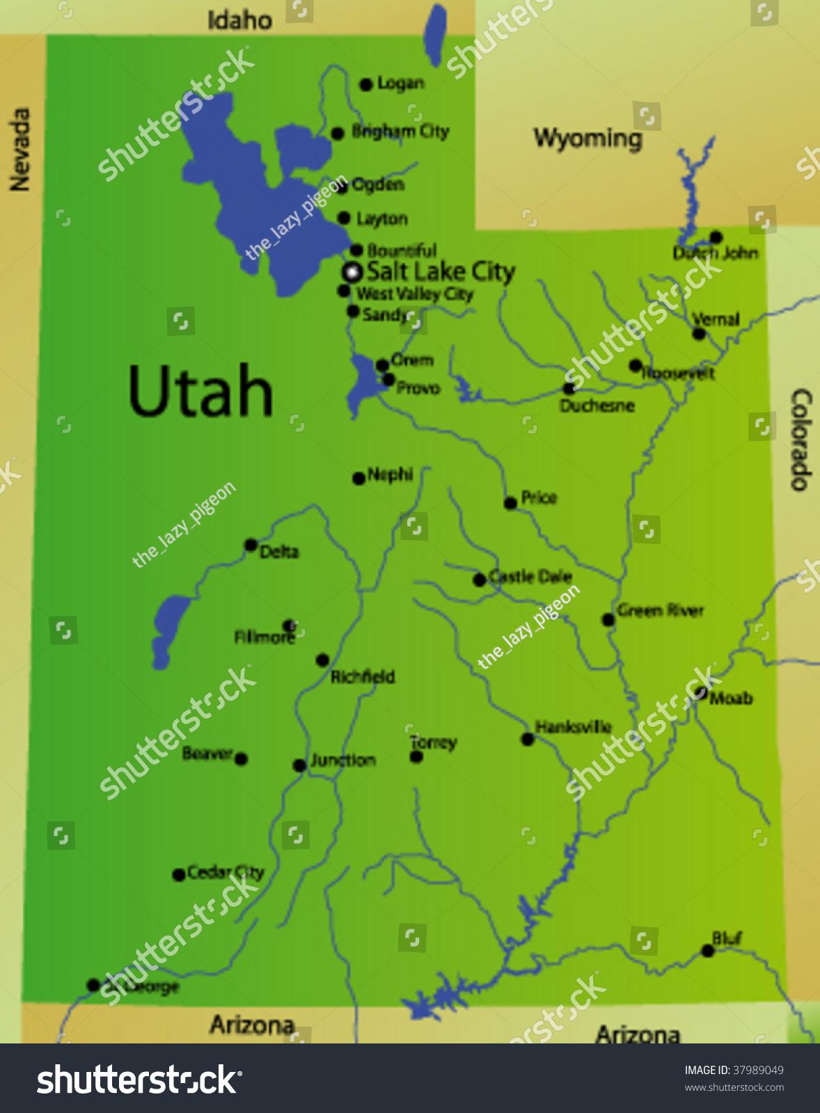 Utah Map Map Of Utah UT Map Salt Lake City Is The Capital And The - Usa zip code utah