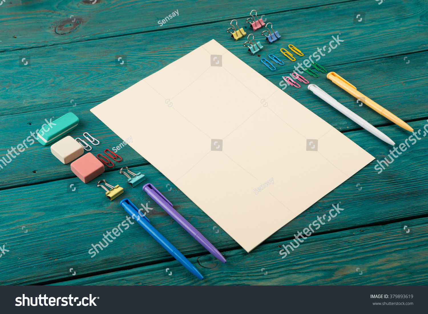 Colorful office accessories Unique Blank Sheet Of Paper And Colorful Office Accessories On Wooden Table 2alisoniguelanimalhospitalinfo Blank Sheet Paper Colorful Office Accessories Stock Photo edit Now