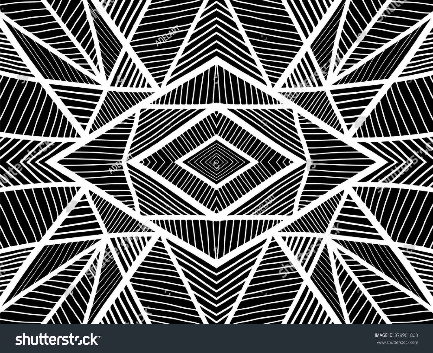 Stock Illustration Volleyball Tribal Abstract Vector: Background Geometric Abstract. Simple Tribal Ornament