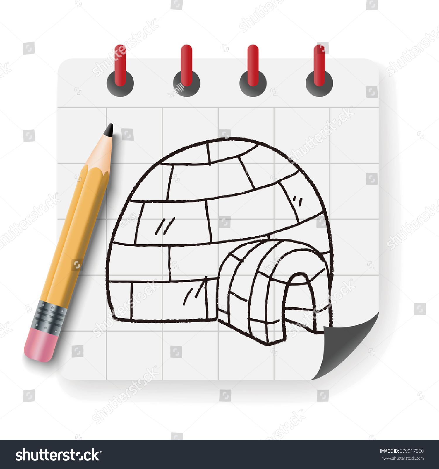 Igloo doodle stock illustration 379917550 shutterstock igloo doodle pooptronica