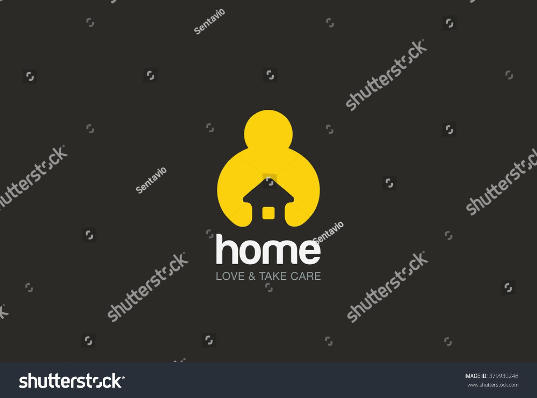 Man Holding Hands House Logo Design Stock Vector 379930246 ...