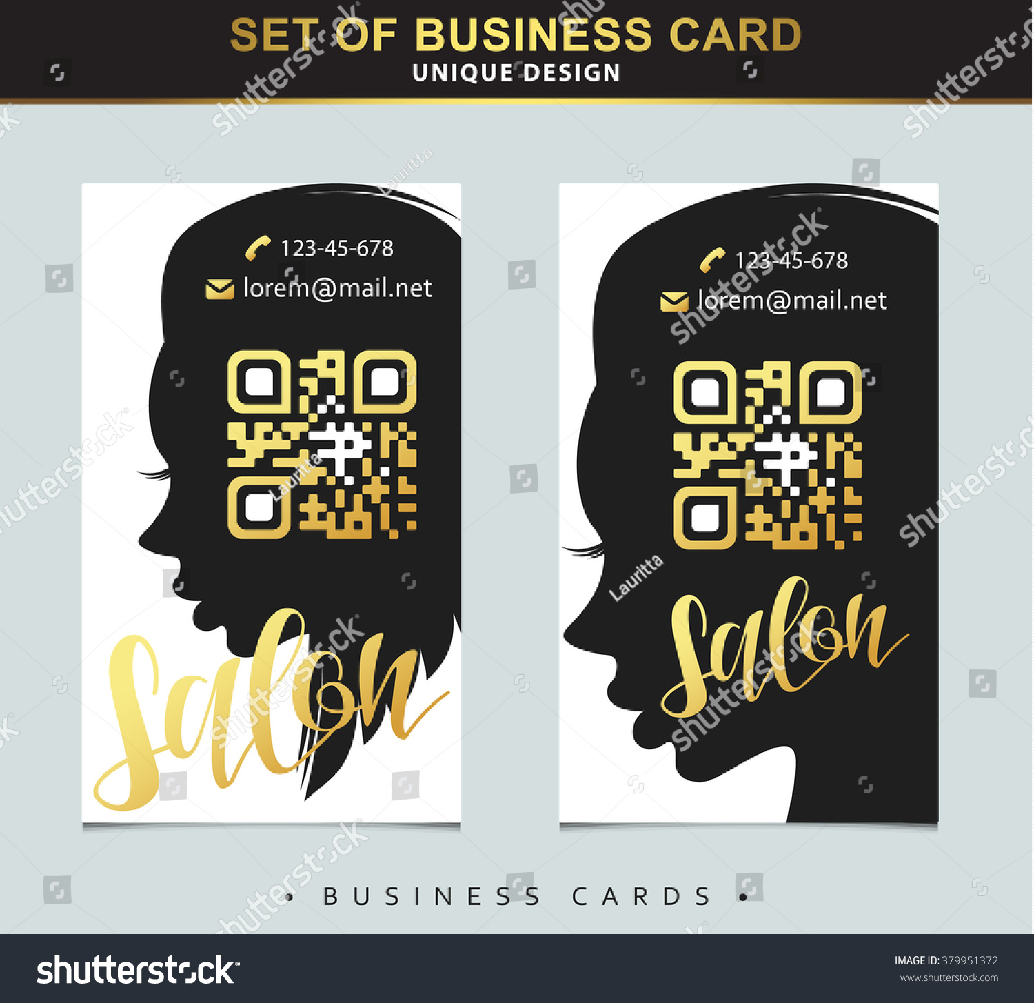 Design Template Business Card Beauty Salon Stock Vector 379951372 ...