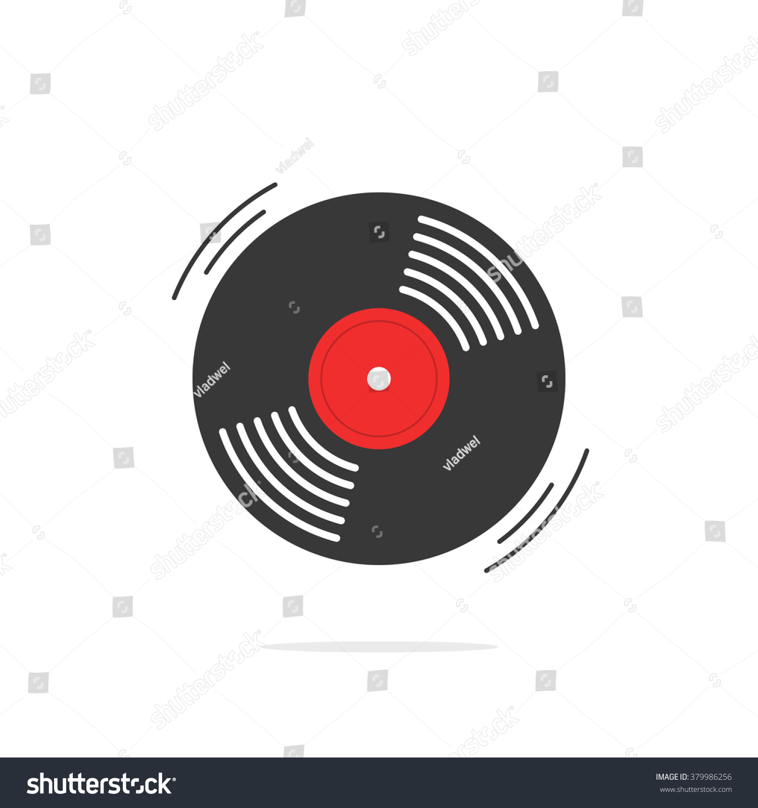 vinyl record icon gramophone record symbol stockillustration
