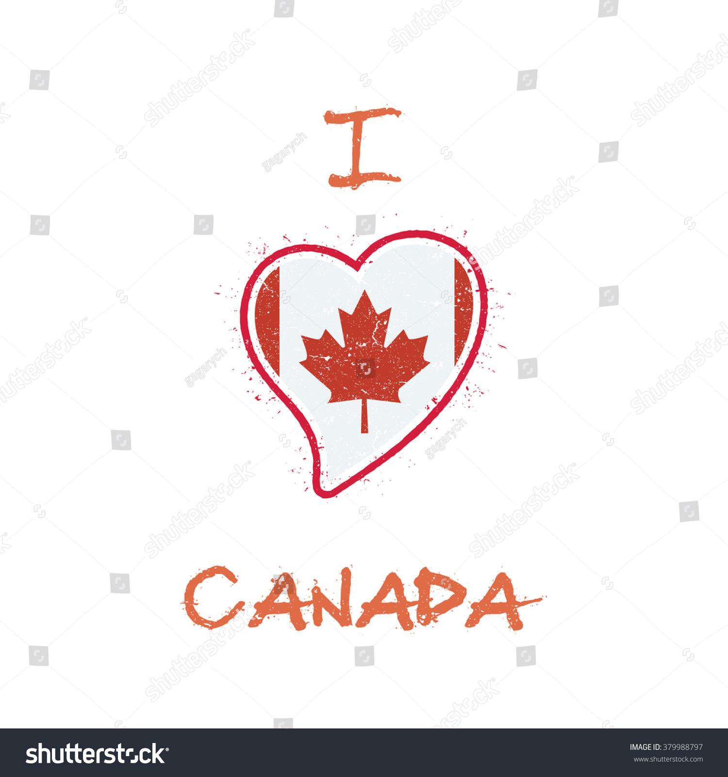 Shirt design canada - Canada Flag Patriotic T Shirt Design Heart Shaped National Flag Of Canada On White