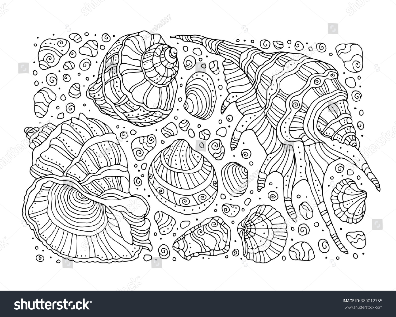 Seashell Coloring Pattern