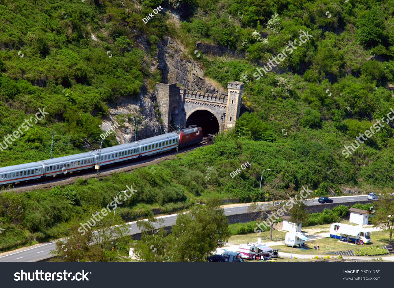 Train Location Germany Rhine River Stock Photo Shutterstock - Rhine river location