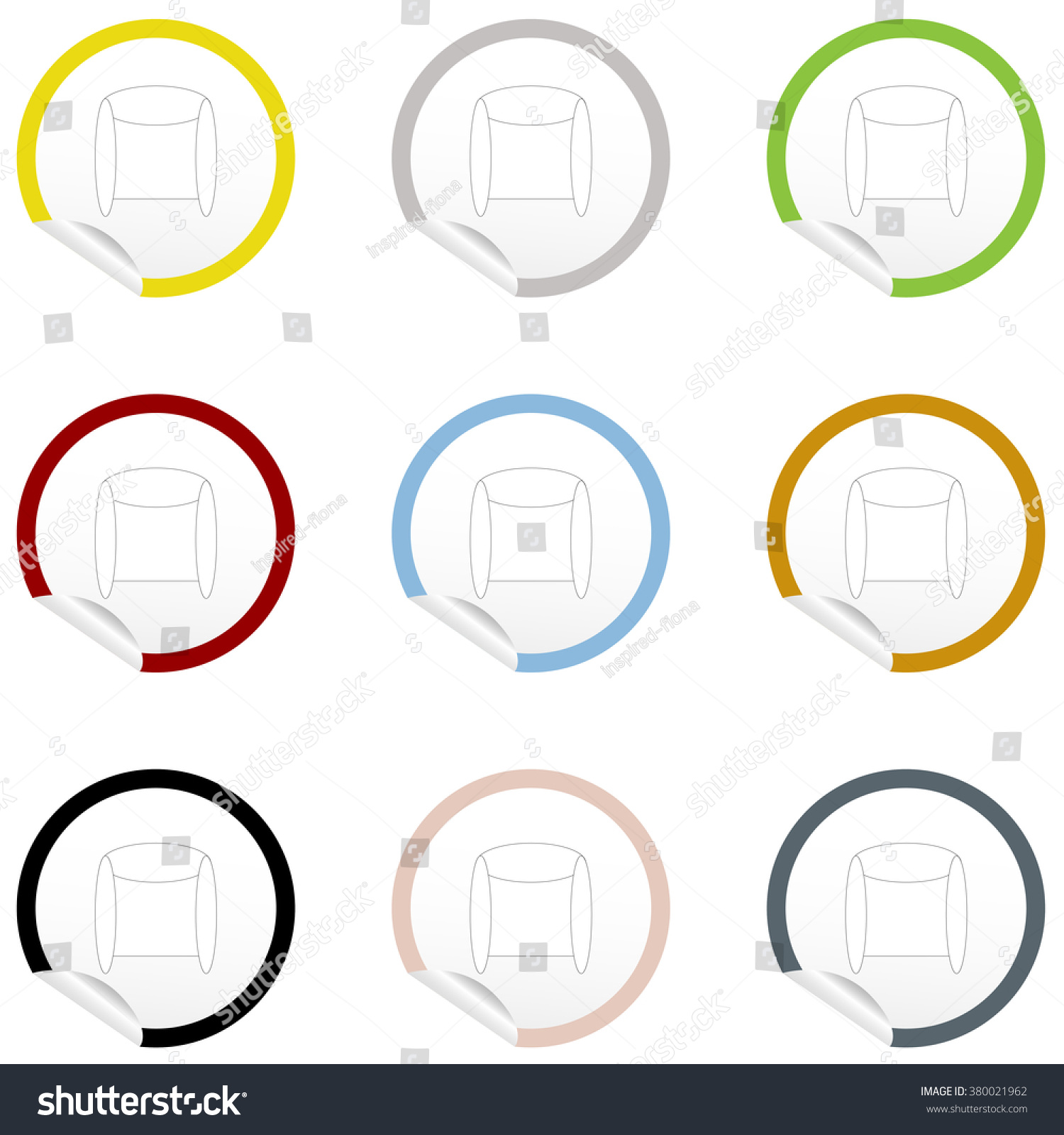 flat chair icon on sticker floor stock vector 380021962 shutterstock flat chair icon on sticker for floor plan outline eps10 vector furniture illustration view