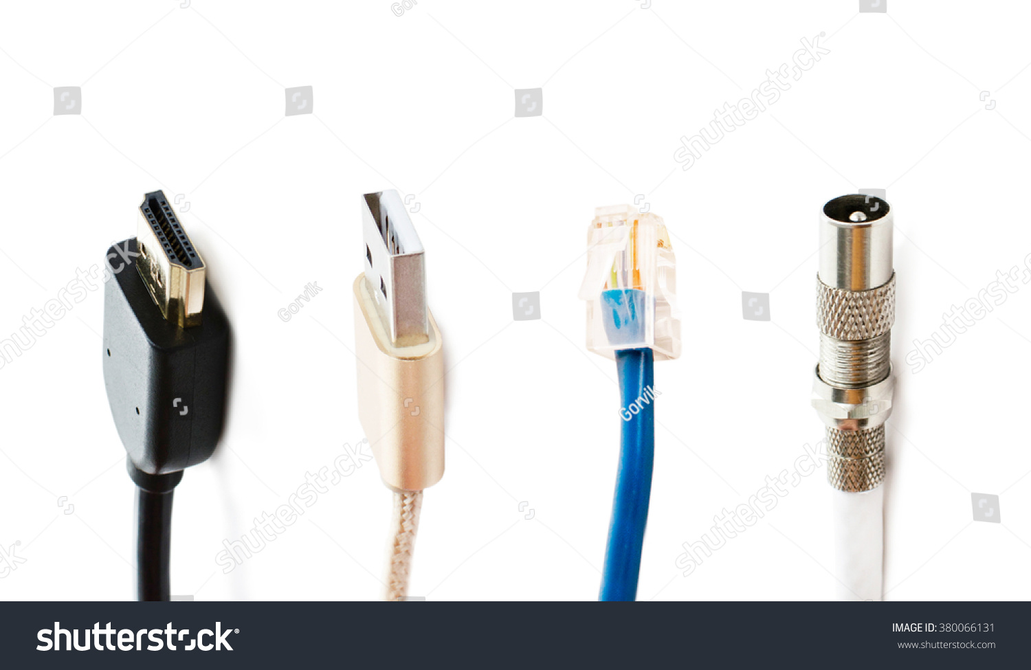 Different Types Adapters Connecting T Vs Internet Stock Photo (Edit ...