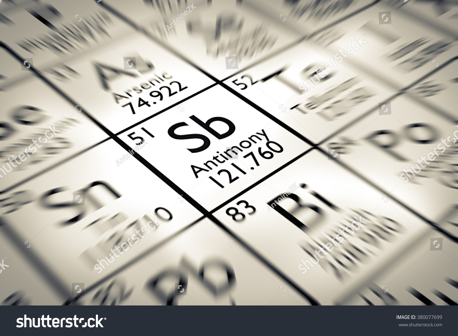 Focus on antimony chemical element mendeleev stock illustration focus on antimony chemical element from the mendeleev periodic table gamestrikefo Choice Image
