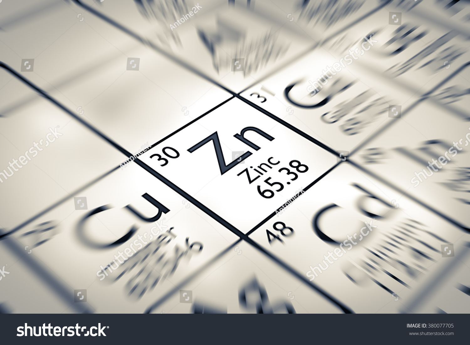 focus on zinc chemical element from the mendeleev periodic table - Mendeleev Periodic Table Atomic Number
