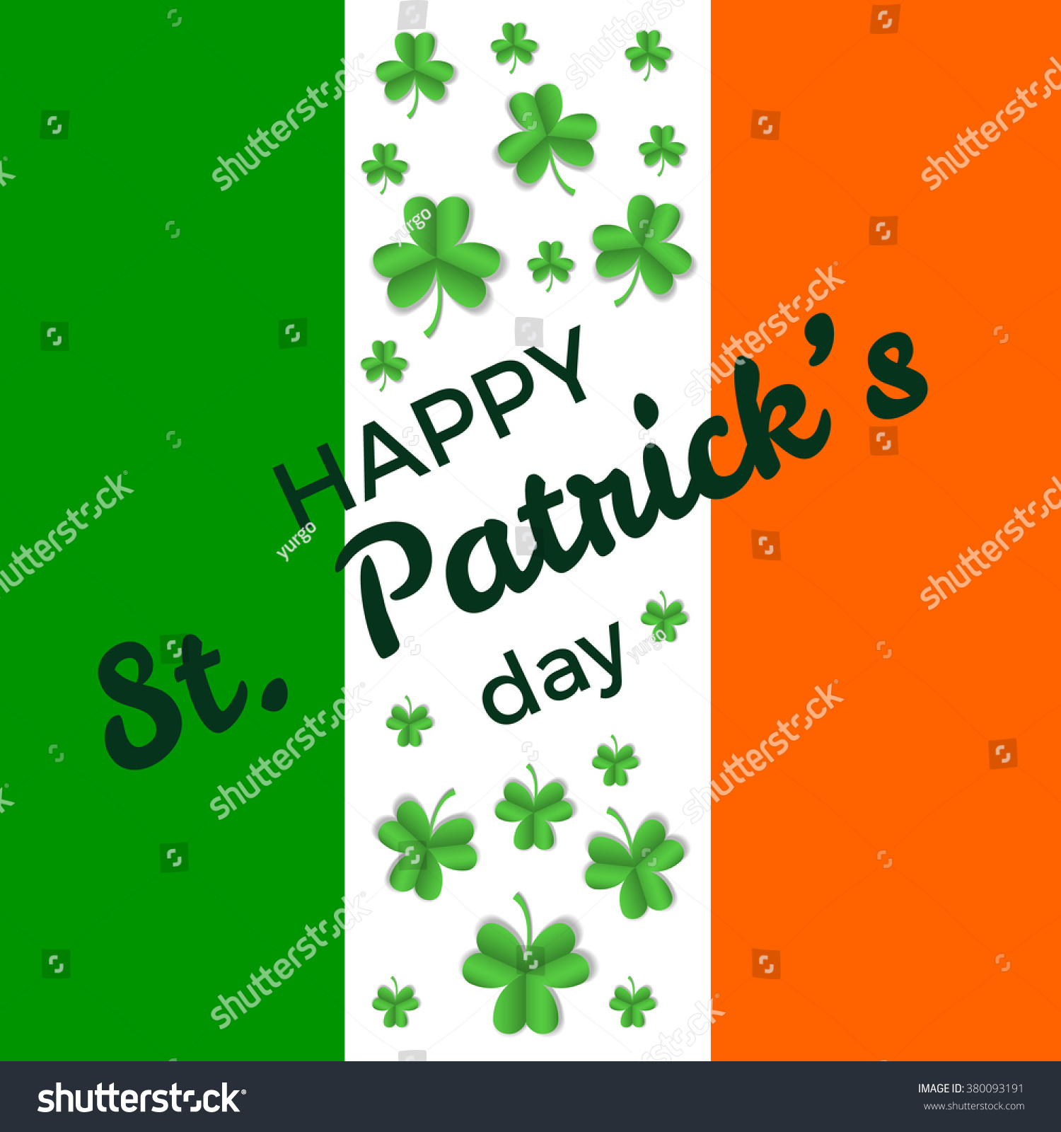 St Patricks Day Greeting Card Banner Stock Vector 380093191