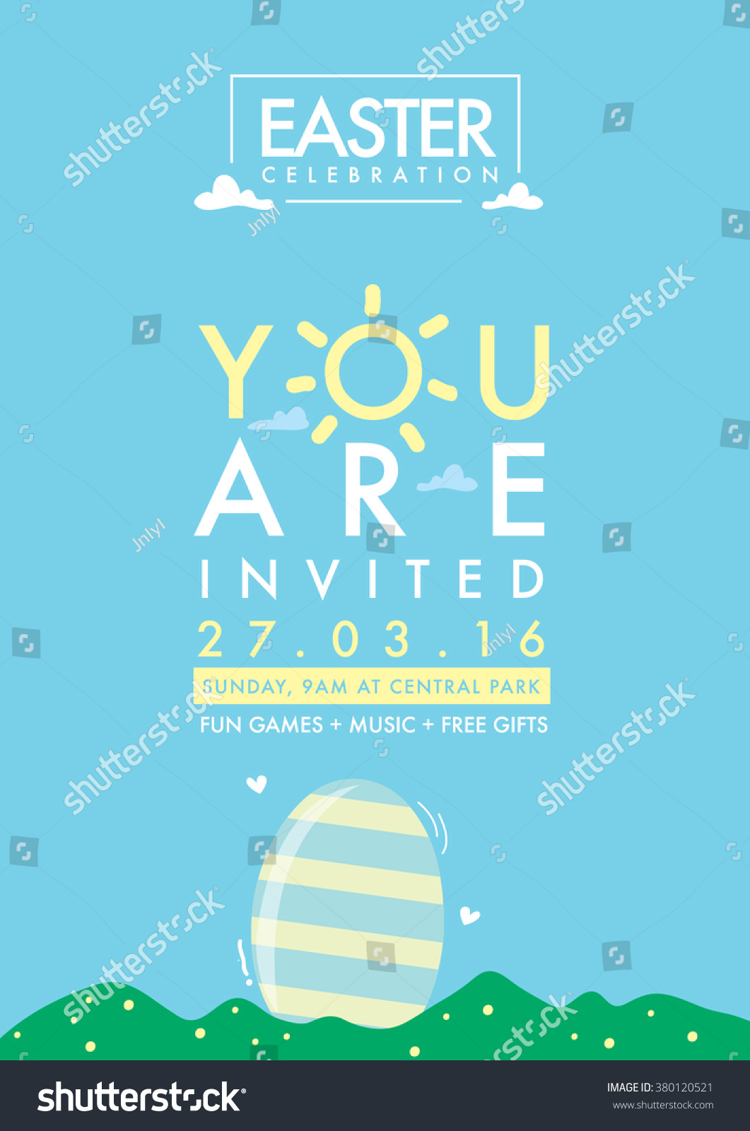 Happy Easter Day Greetings Egg Vector Stock Vector Royalty Free