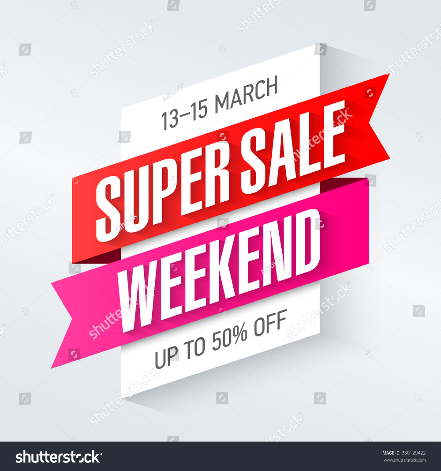 super sale weekend special offer poster stock vector