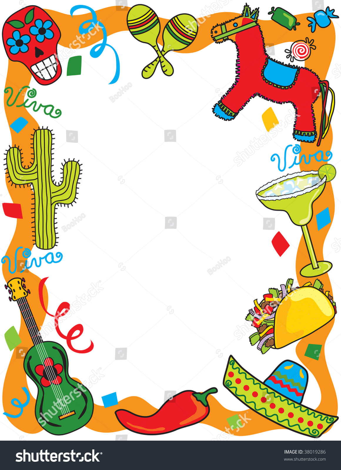 stock vector mexican fiesta frame great for invitation or menu 38019286 Top Result 60 Inspirational Mexican themed Powerpoint Template