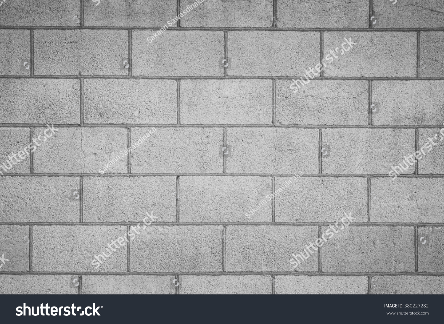 Seamless Block Wall : Concrete block wall seamless background texture stock
