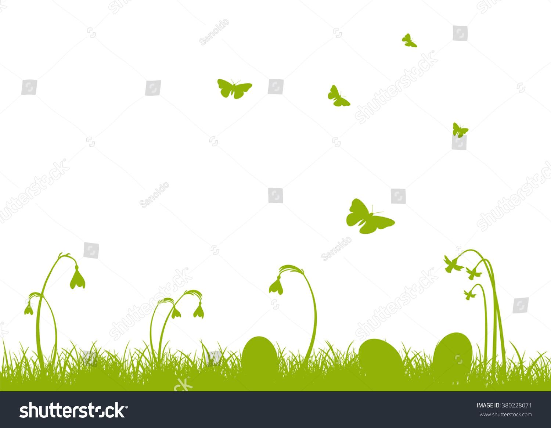 Green Vector Easter Holiday Season Greeting Stock Vector Royalty