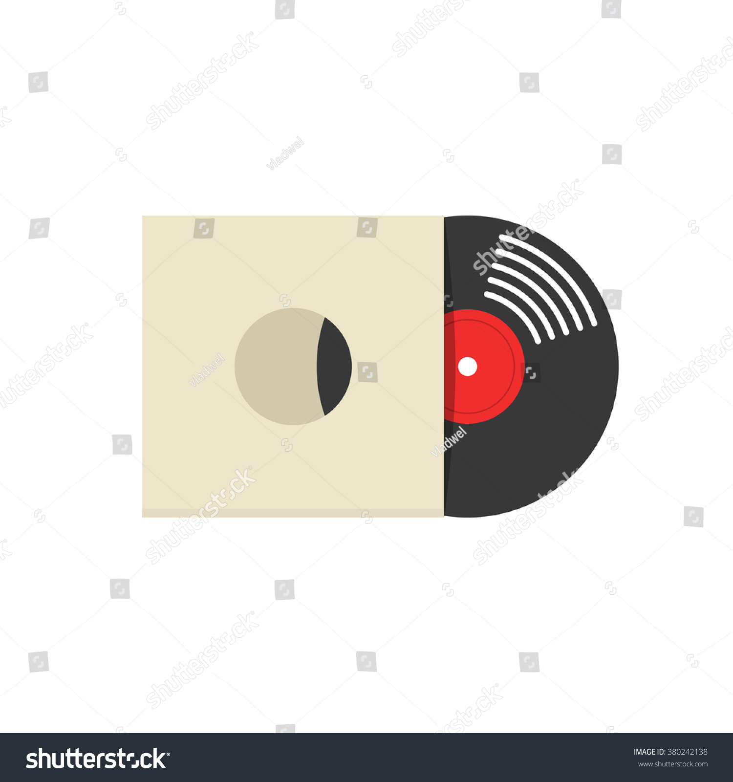 record album cover vector illustration retro stock vektorgrafik