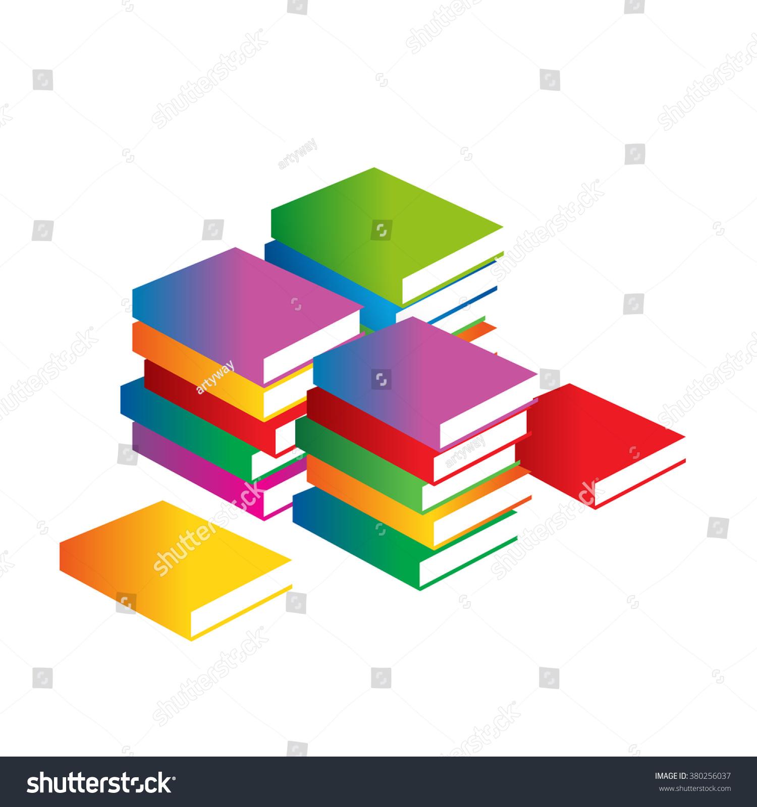 Minimalistic Book Cover Vector Logo Educational Stock Vector