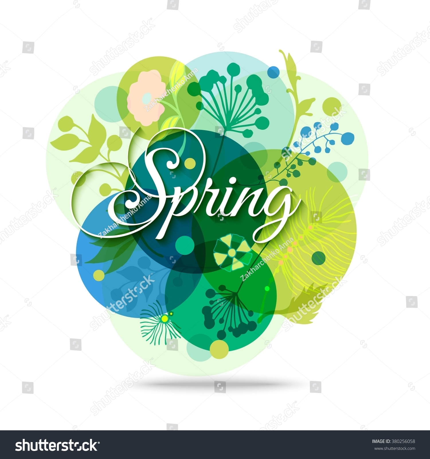 Spring Mood Floral Background Vector Eps Stock Vector 380256058 ...