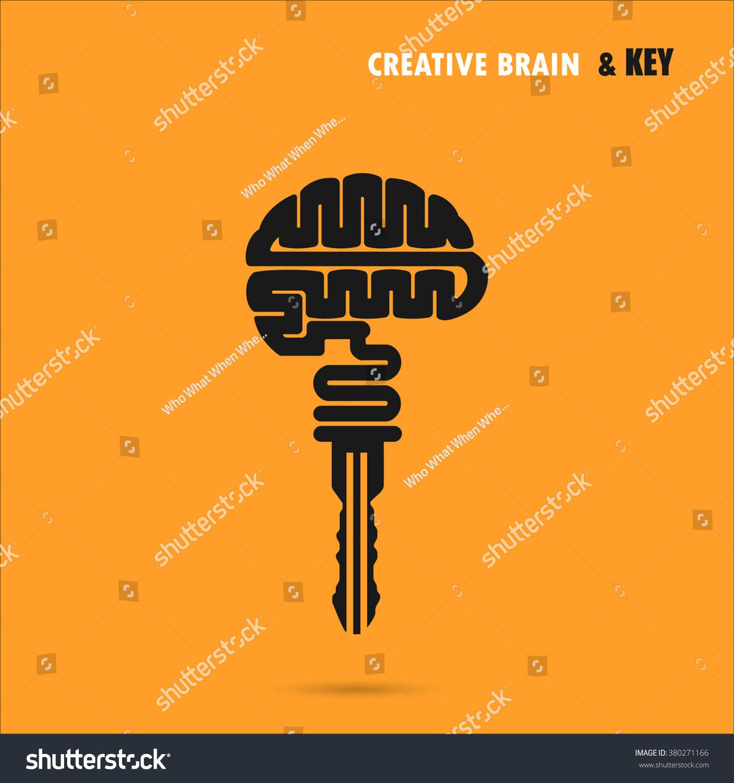 creative brain sign key symbol key stock vector 380271166 creative brain sign key symbol key of success concept of ideas inspiration