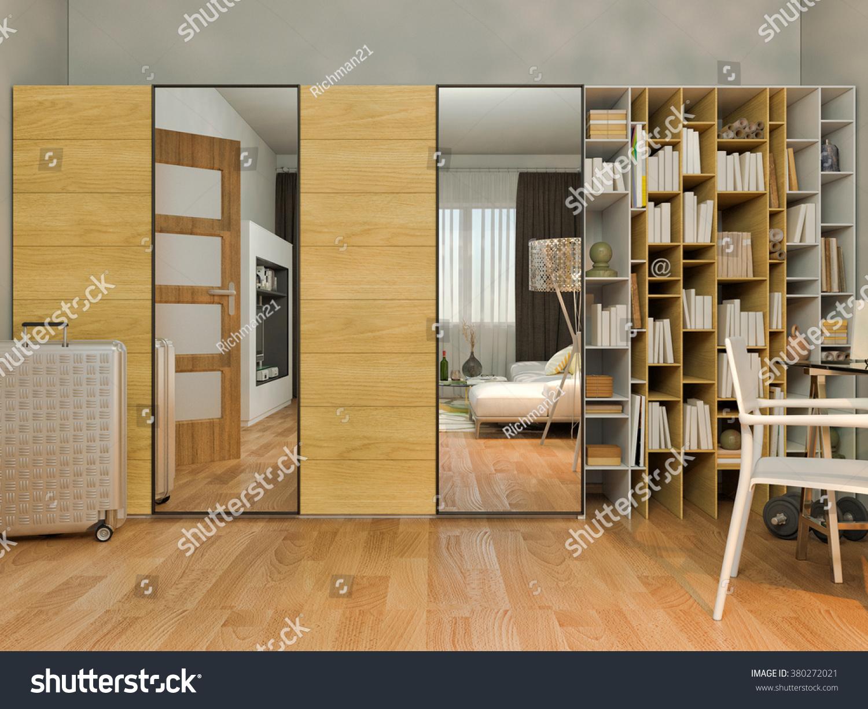 3d Render Interior Design Living Studio Stock Illustration 380272021
