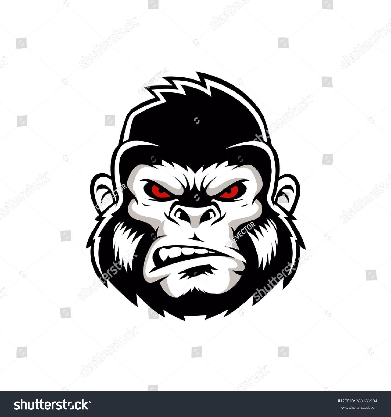 Gorilla vector head - photo#1