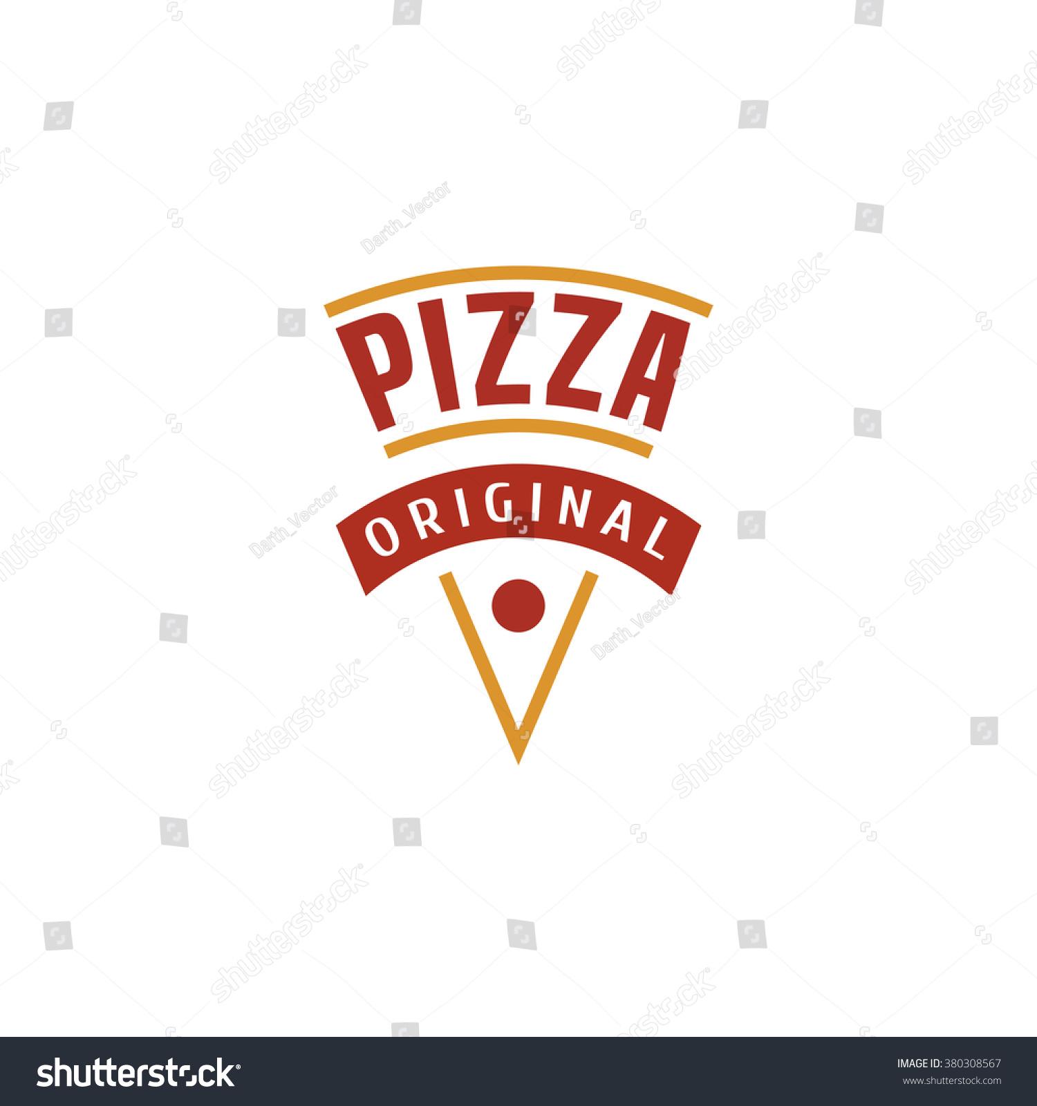 Pizza pizzeria vector logo icon symbol stock vector for Pizza pizzeria