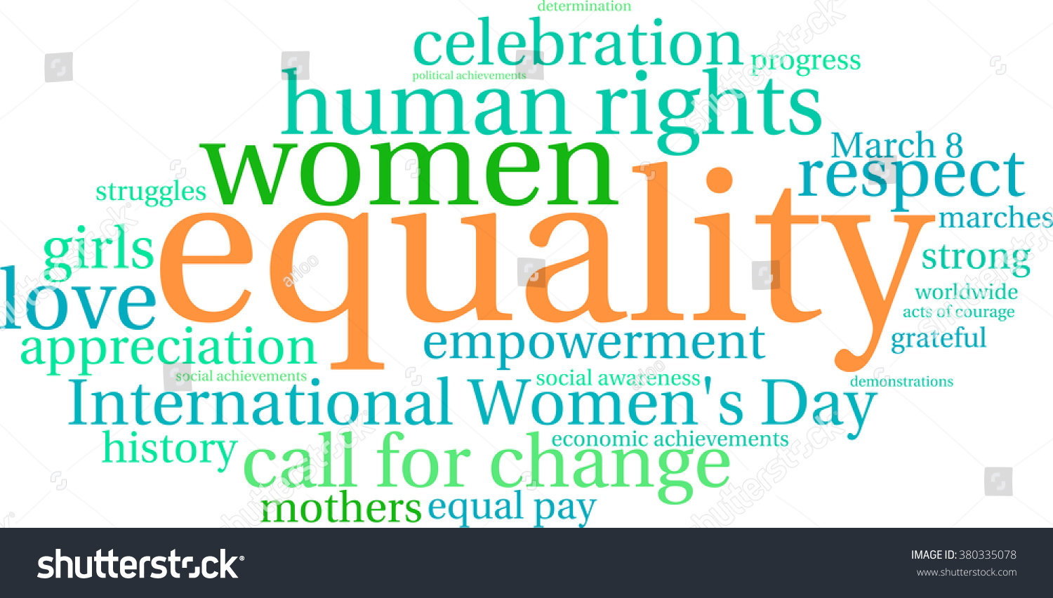 Equality Word Cloud On White Background Stock Vector ...