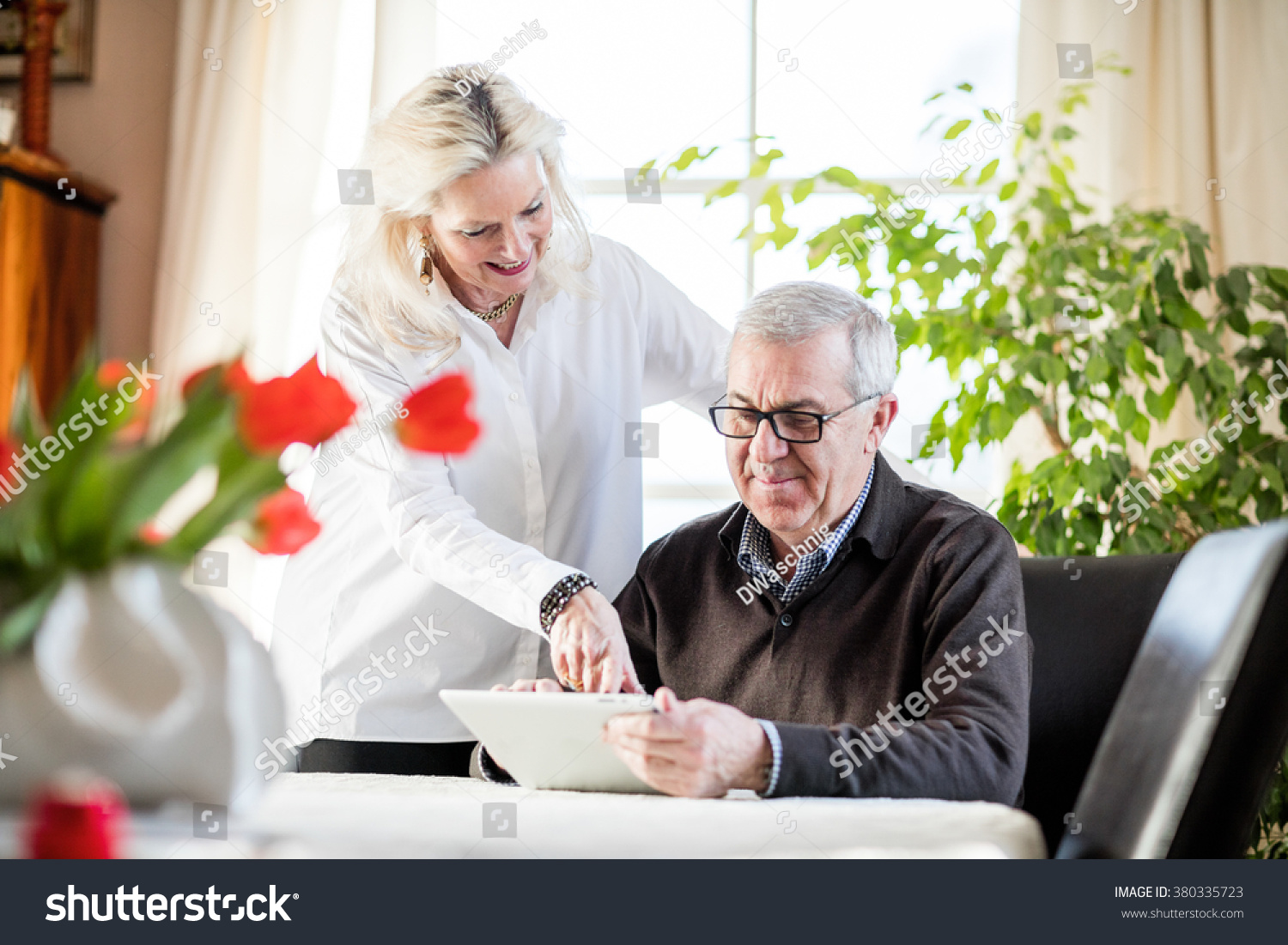 Older Couple Having Fun Smiling While Stock Photo Edit Now 380335723