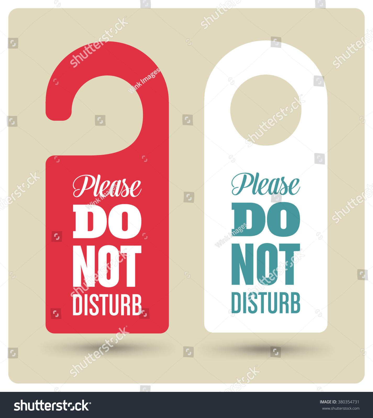 hotel door hanger tags messages please のベクター画像素材
