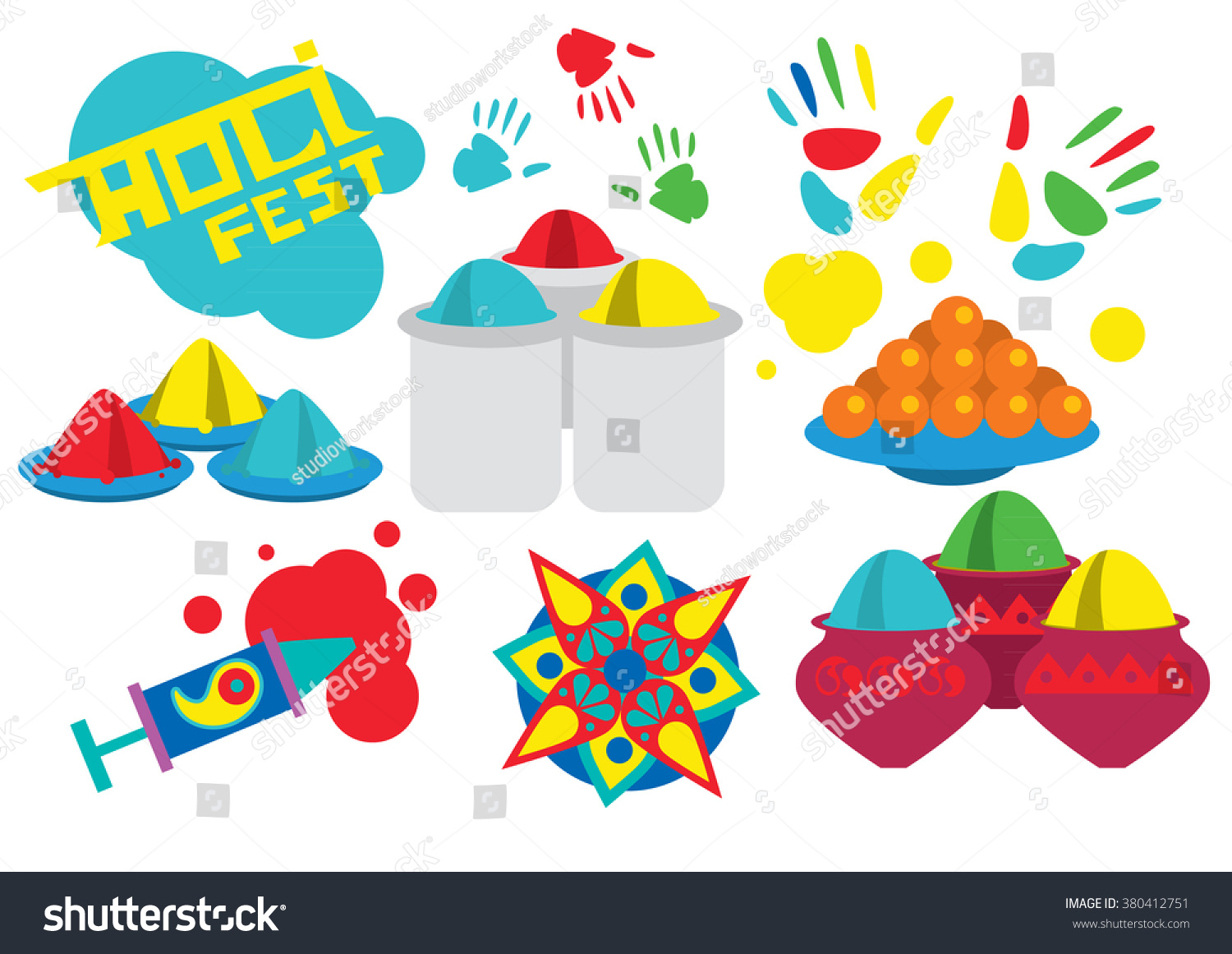 Indian Festival Decoration Traditional Indian Festival Bengali New Year Stock Vector