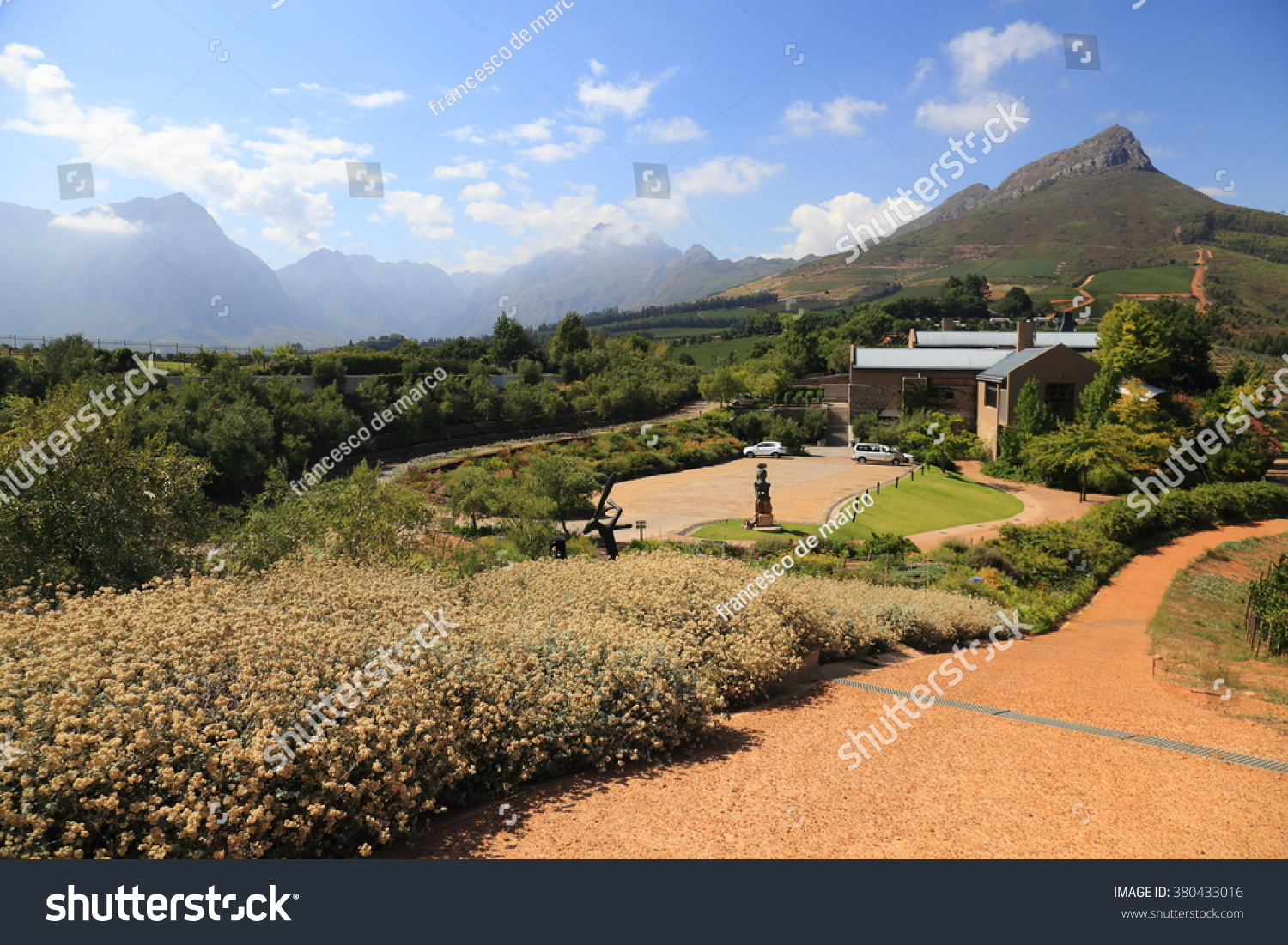 Stellenbosch Considered Wine Capital South Africa Stock Photo - What is the capital of south africa