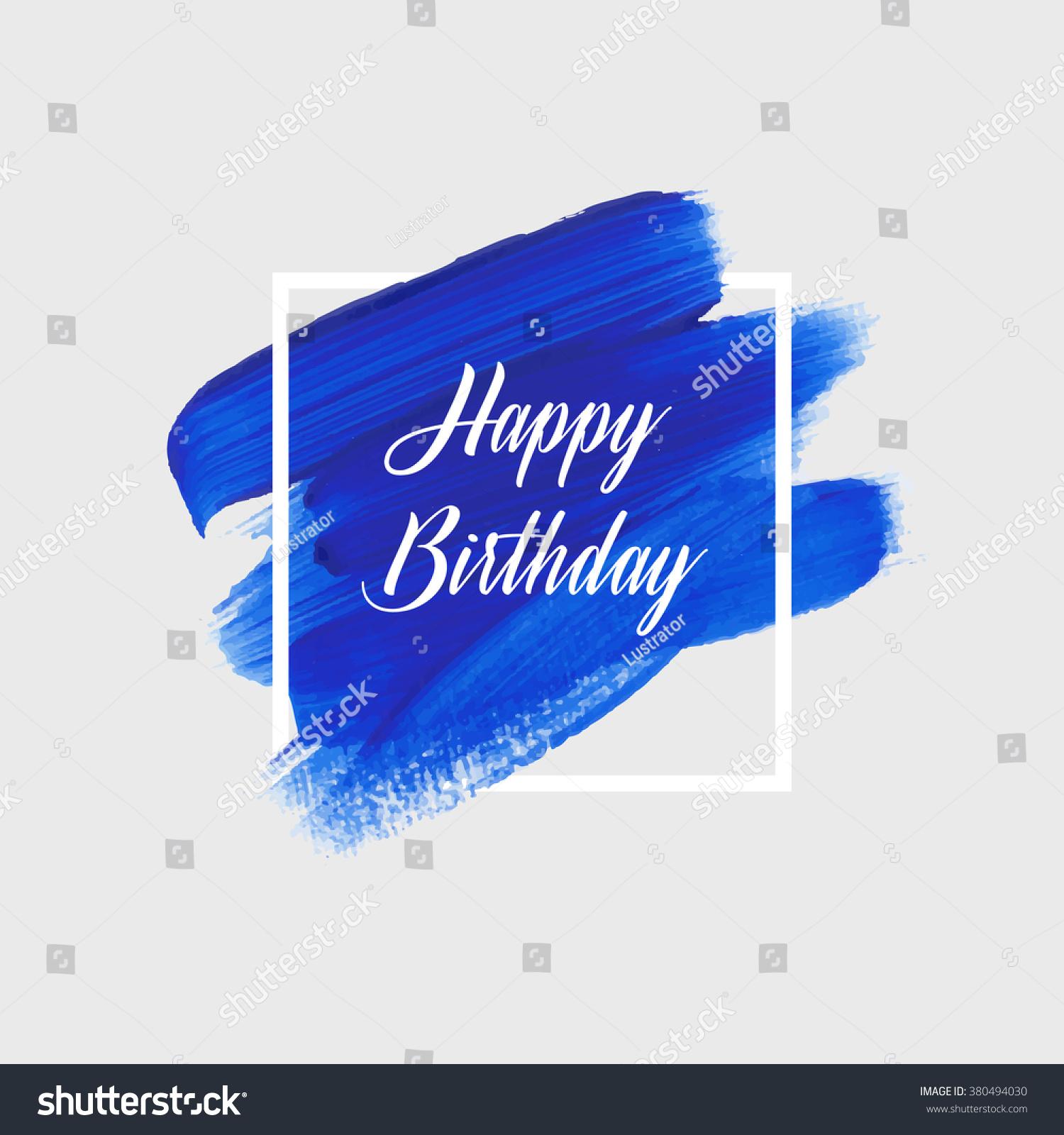 Modern calligraphy brush script happy birthday