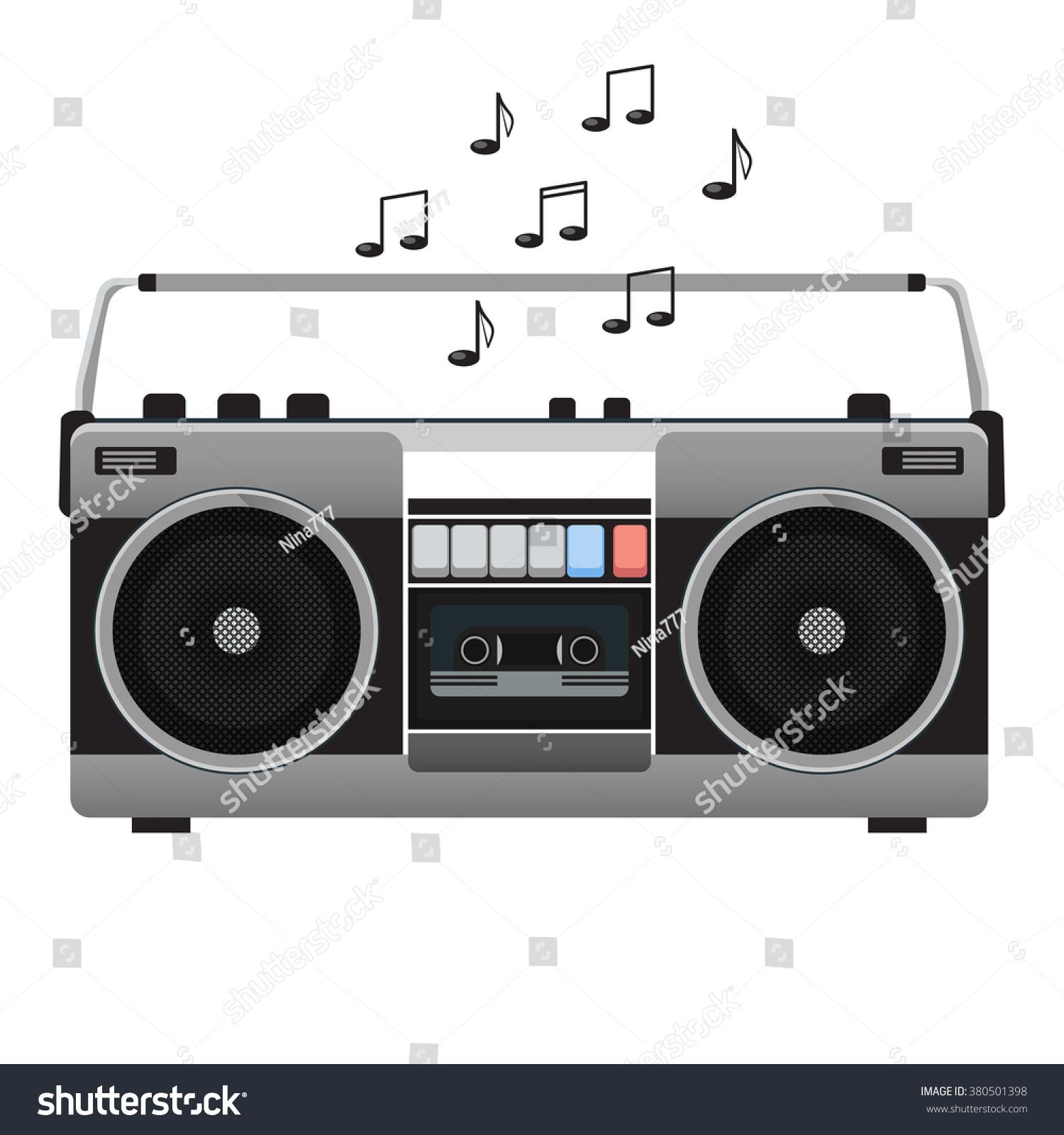 Vintage Tape Recorder Audio Cassettes Music Vector de stock380501398 ...