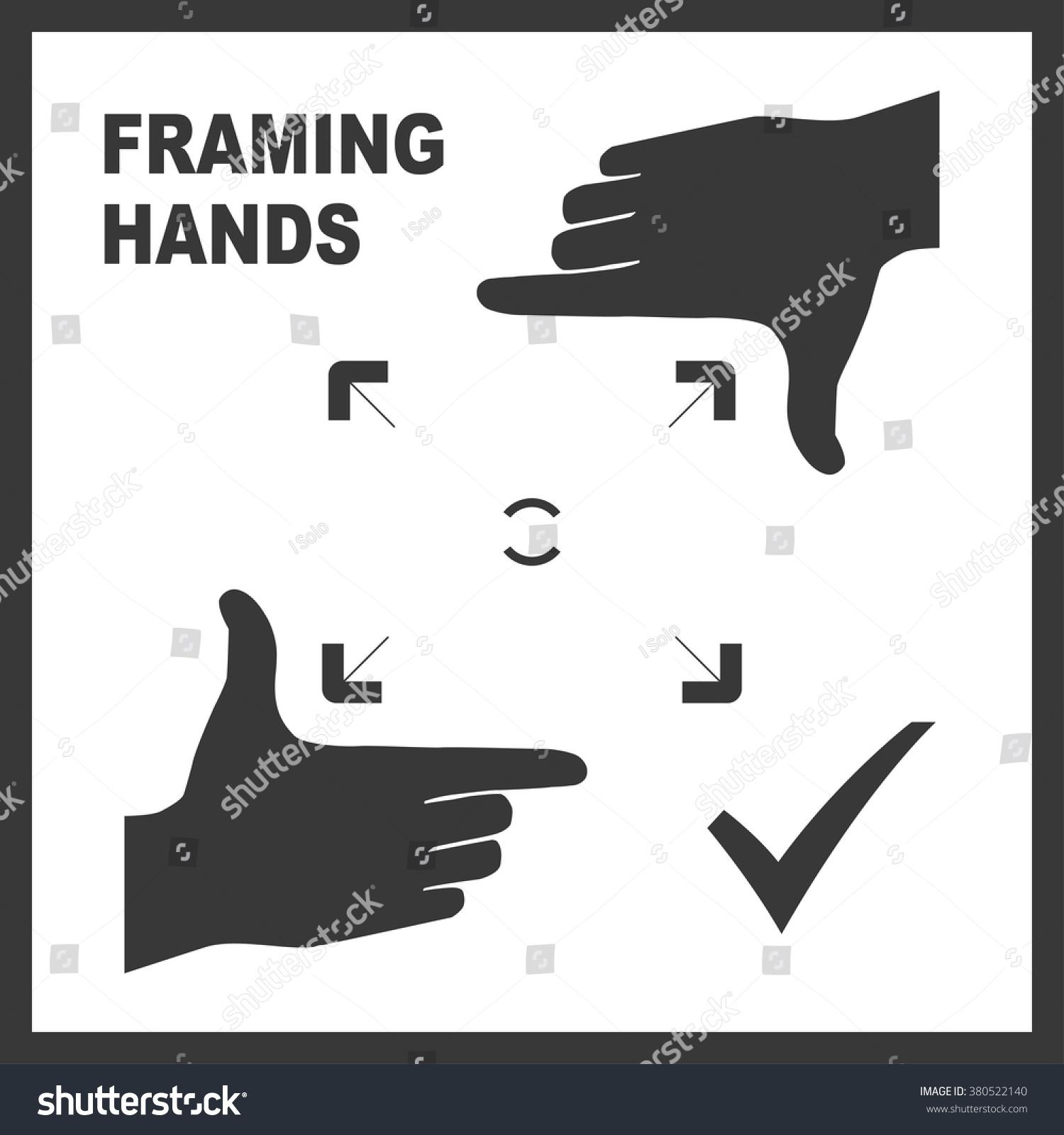 black framing hands template bold frame のベクター画像素材