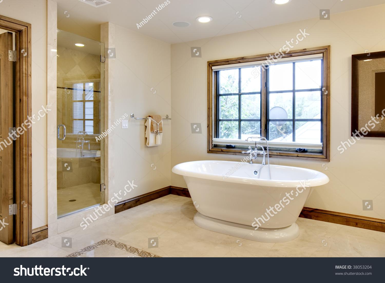 Large Bathroom Large Bathroom Tub Stock Photo 38053204 Shutterstock