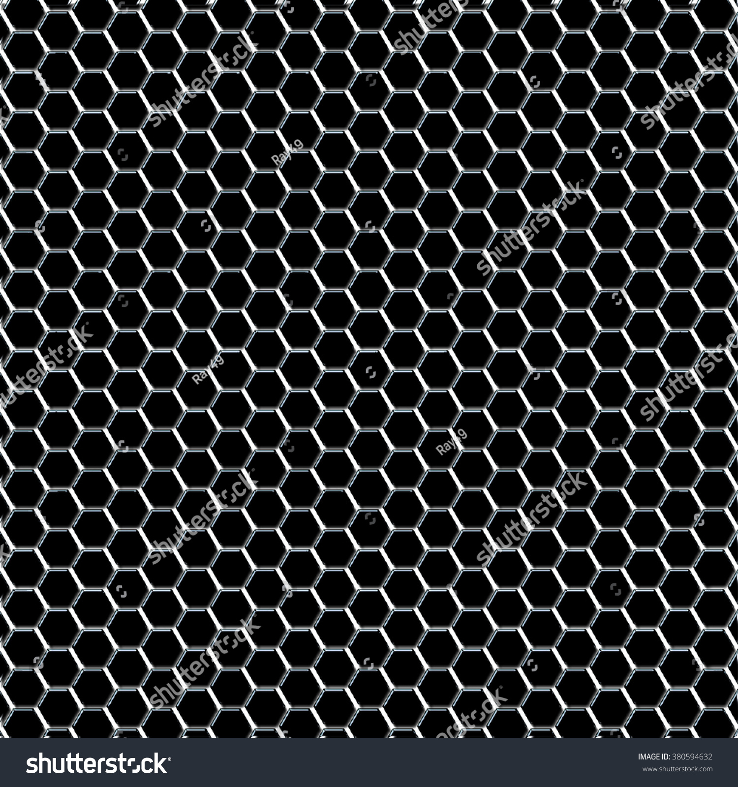 Abstract Wire Mesh Fence Pattern Hexagons Stock Illustration ...