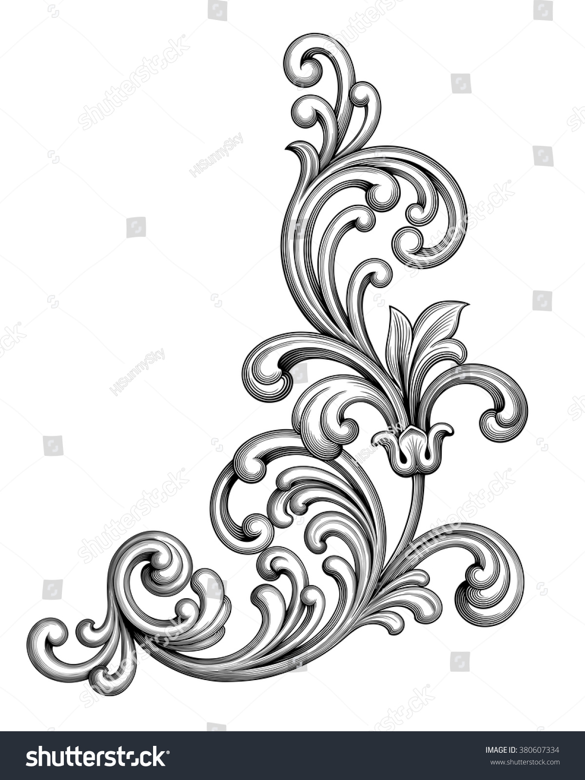 victorian scroll tattoo pictures to pin on pinterest tattooskid. Black Bedroom Furniture Sets. Home Design Ideas
