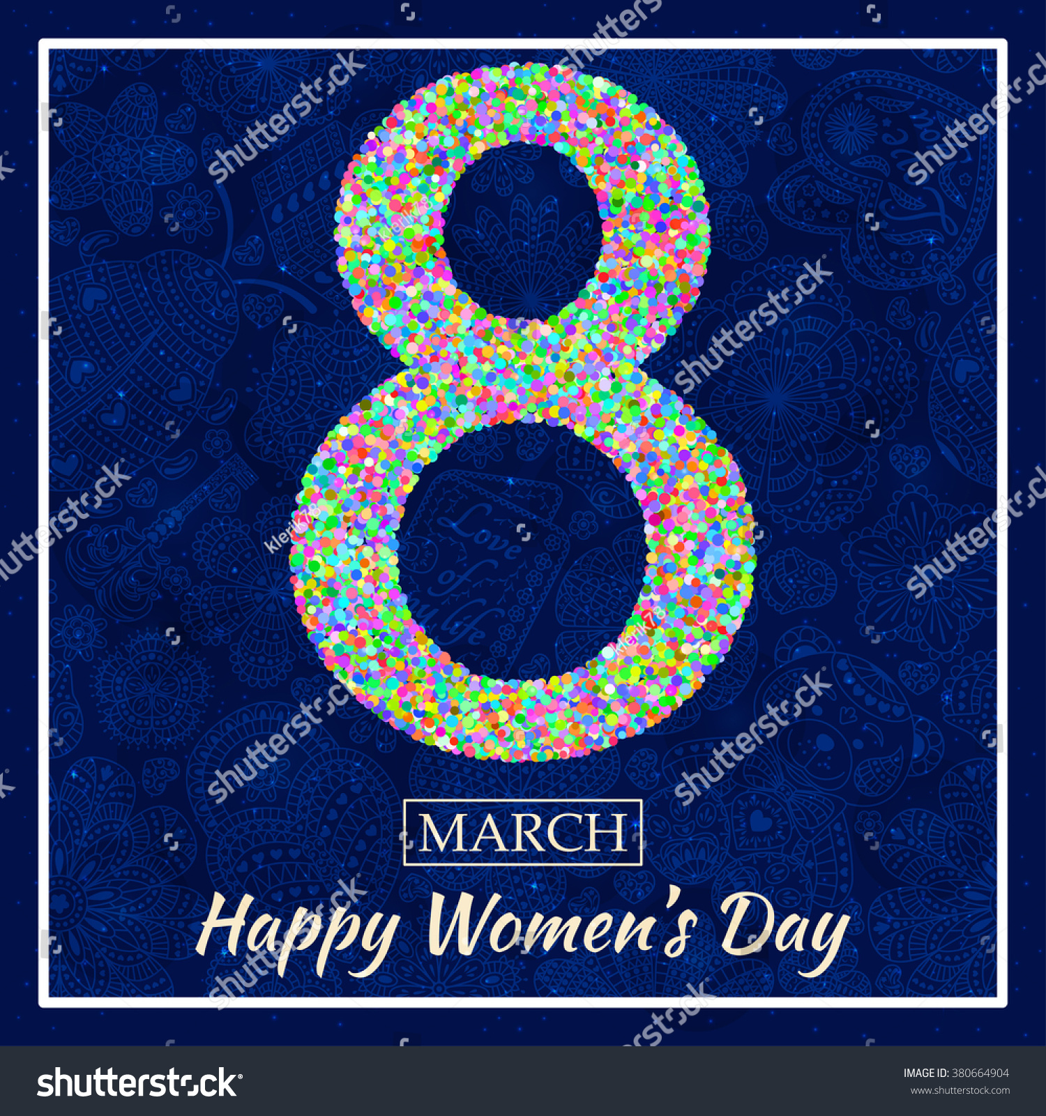 Womens day greeting card beautiful glitter stock vector 380664904 beautiful glitter figure eight text 8 march background with izmirmasajfo