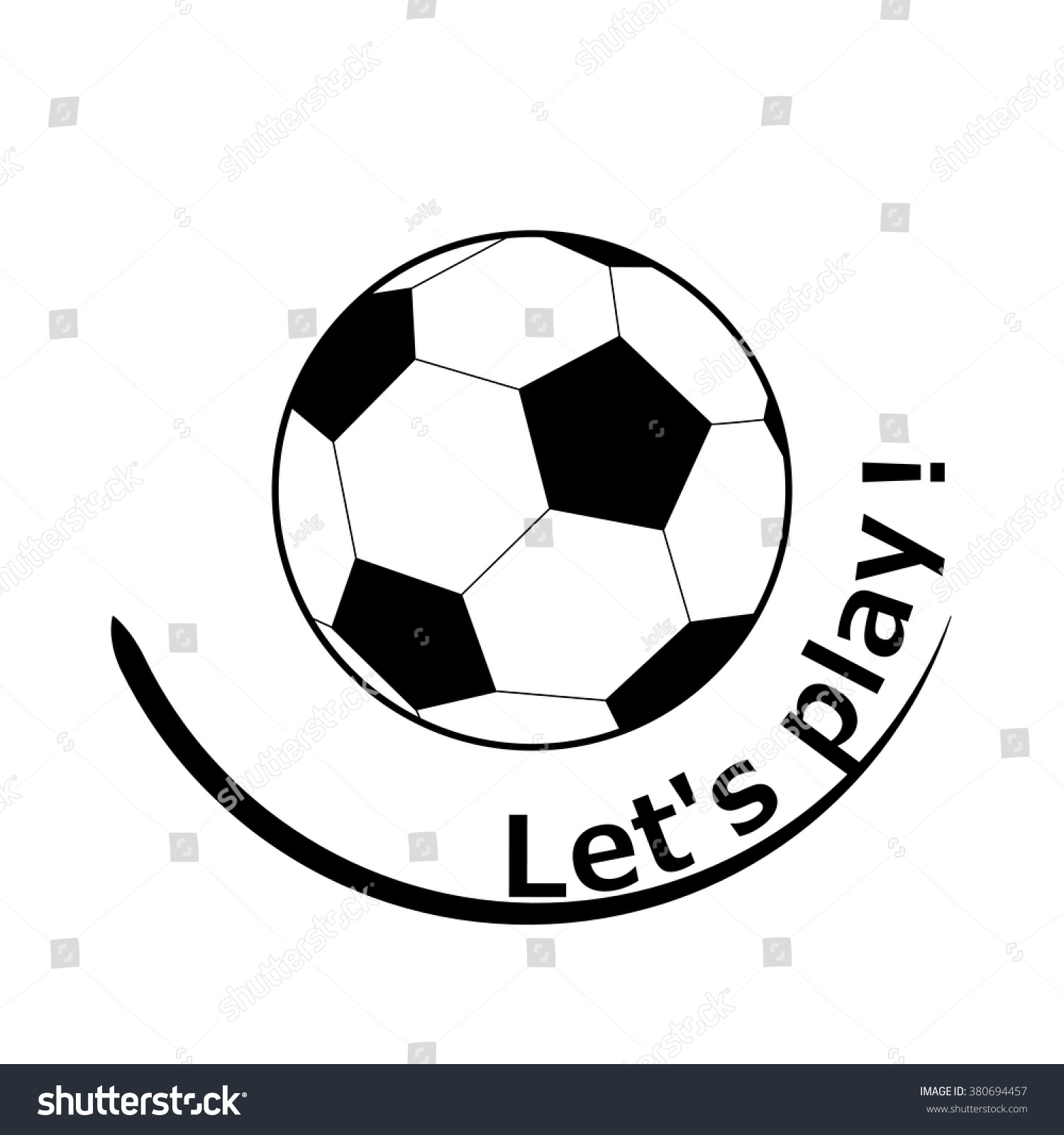Vector logo design elements round flat stock vector 380694457 vector logo design elements round flat icon with soccer ball emblem for football club buycottarizona