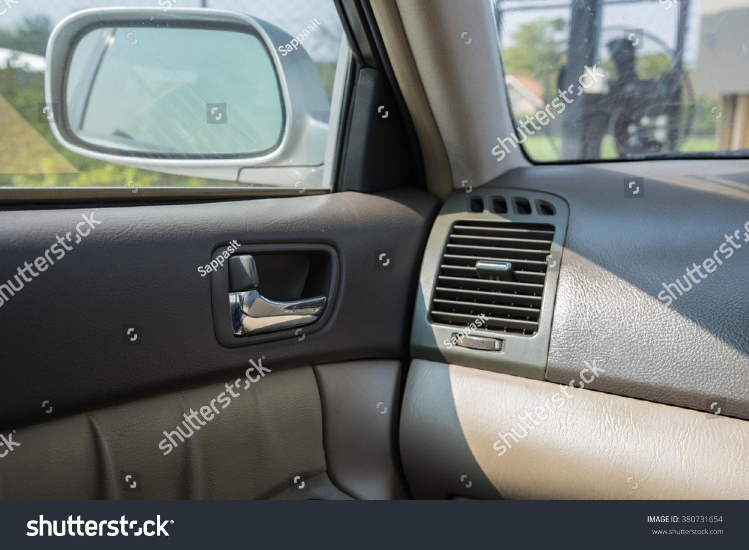 modern car interior passenger airbag air stock photo 380731654 shutterstock. Black Bedroom Furniture Sets. Home Design Ideas