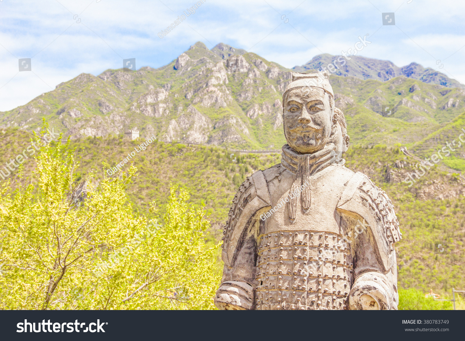 Warrior Statues Great Wall China Stock Photo (100% Legal Protection ...